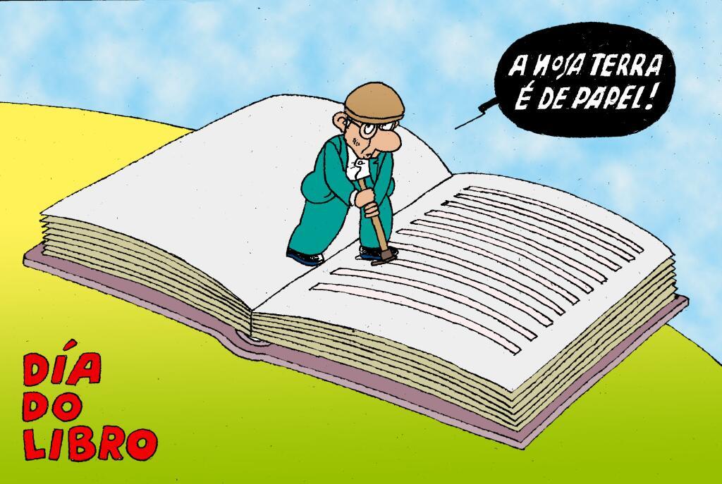 Os humoristas galegos e o #díadolibro – Brétemas